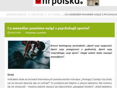 Co manager powinien wziąć z psychologii sportu