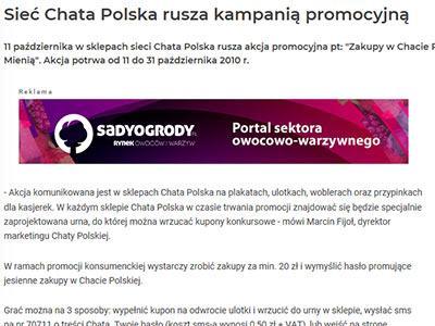 Sieć Chata Polska rusza z kampanią promocyjną