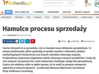 Artykuł w portalu dlahandlu.pl